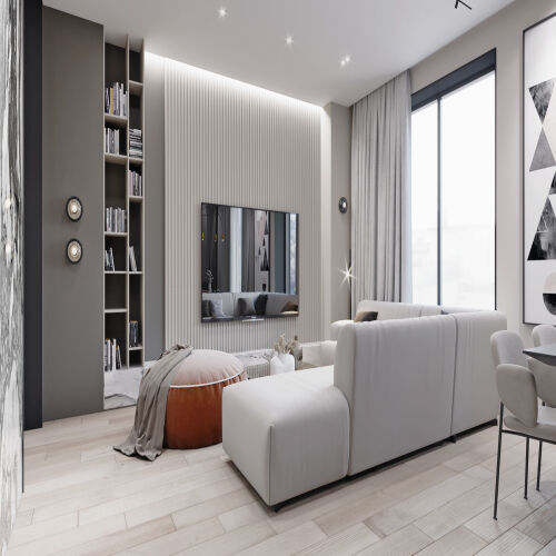 Жилой комплекс «Михайловский» - Квартира №107, 5-комнатная студия, 151.51м2