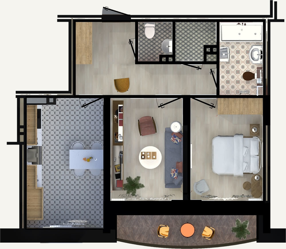 2-комнатная квартира 58.96м2 ЖК Калининский 2