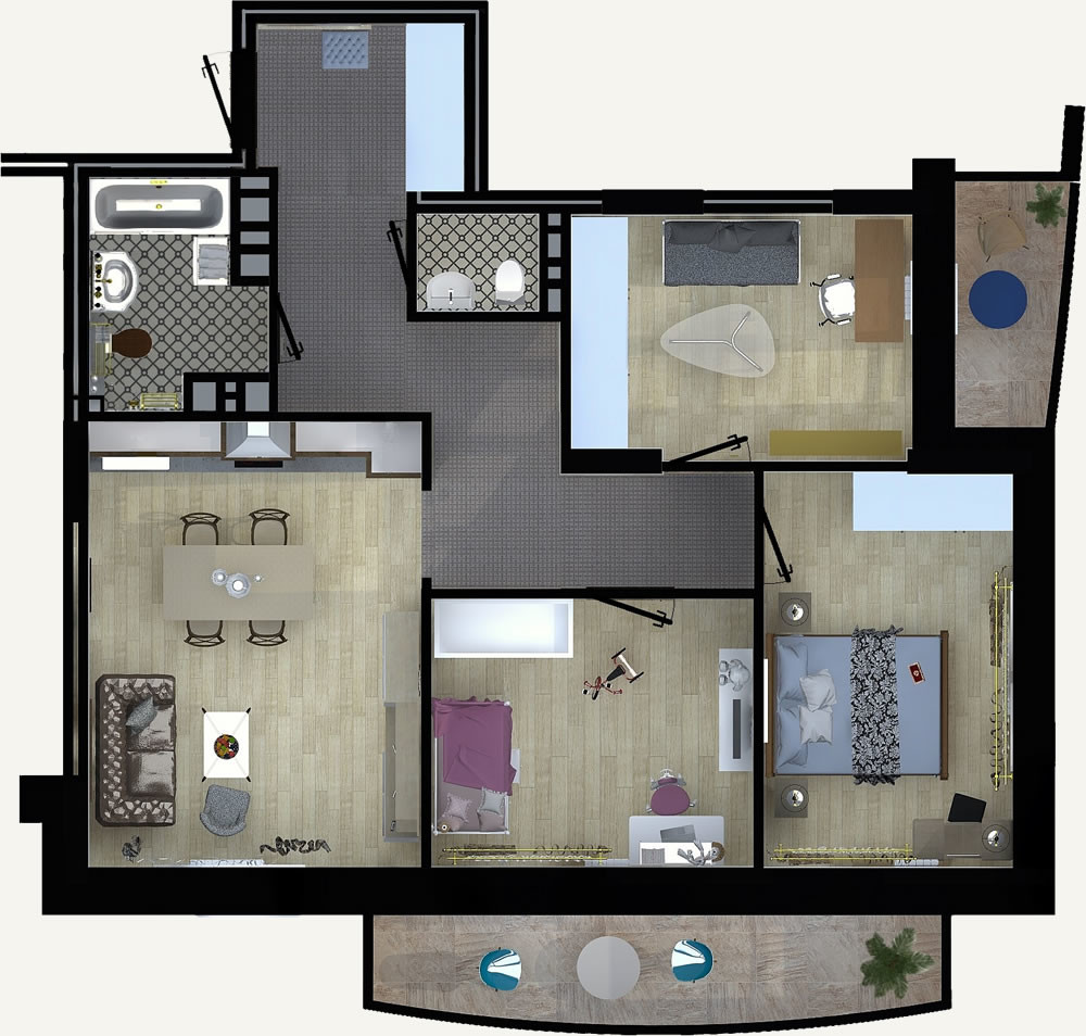 4-комнатная квартира 80.89м2 ЖК Калининский 2