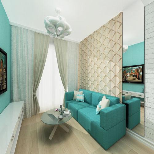 Жилой комплекс «Островский» - Квартира №78, 1-комнатная, 34.24м2