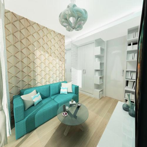 Жилой комплекс «Островский» - Квартира №153, 1-комнатная, 34.2м2