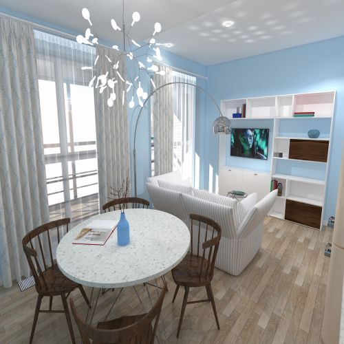 Жилой комплекс «ApartRiver» - Апартаменты №5, Студия, 27.56м2