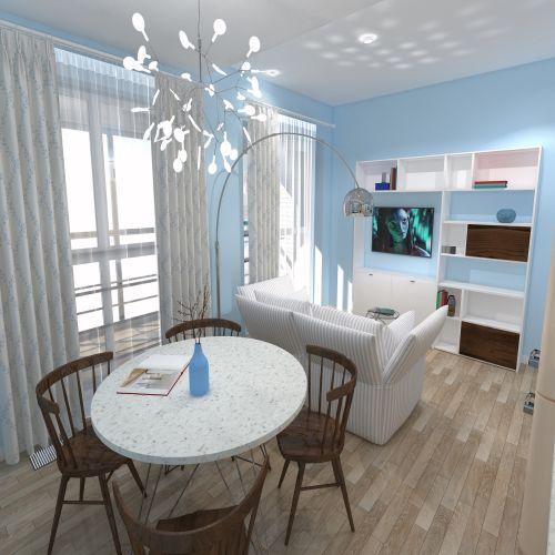Жилой комплекс «ApartRiver» - Апартаменты №7, Студия, 27.7м2