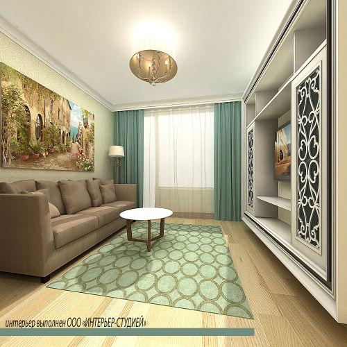 Жилой комплекс «Островский» - Квартира №201, 2-комнатная, 52.77м2