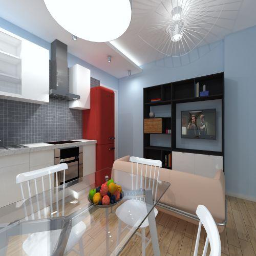 Жилой комплекс «ApartRiver» - Апартаменты №54, 2-комнатная студия, 36.76м2