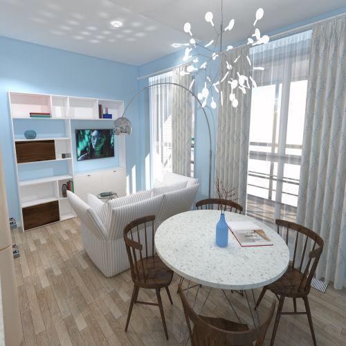 Жилой комплекс «ApartRiver» - Апартаменты №91, Студия, 27.63м2