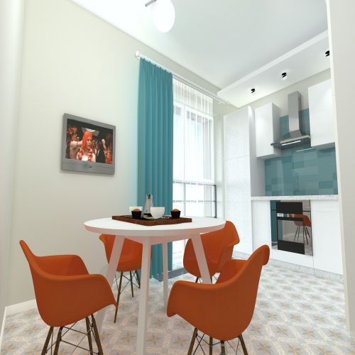 Жилой комплекс «ApartRiver» - Апартаменты №62, 2-комнатная, 50.7м2