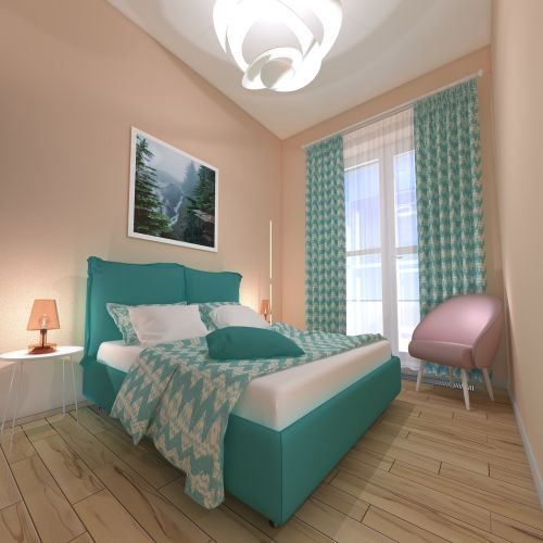 Жилой комплекс «ApartRiver» - Апартаменты №45, 2-комнатная, 50.7м2