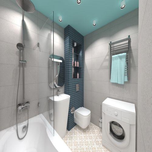 Жилой комплекс «ApartRiver» - Апартаменты №164, 2-комнатная студия, 42.89м2