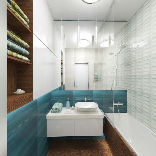 Жилой комплекс «Островский» - Квартира №212, 1-комнатная, 32.99м2
