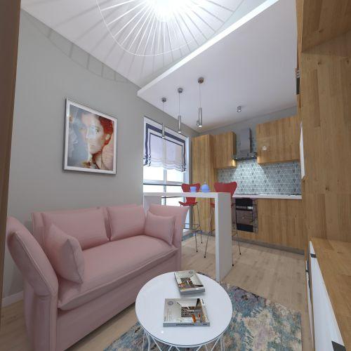 Жилой комплекс «ApartRiver» - Апартаменты №171, Студия, 27.29м2