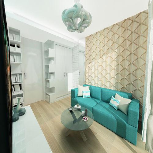 Жилой комплекс «Островский» - Квартира №134, 1-комнатная, 34.2м2
