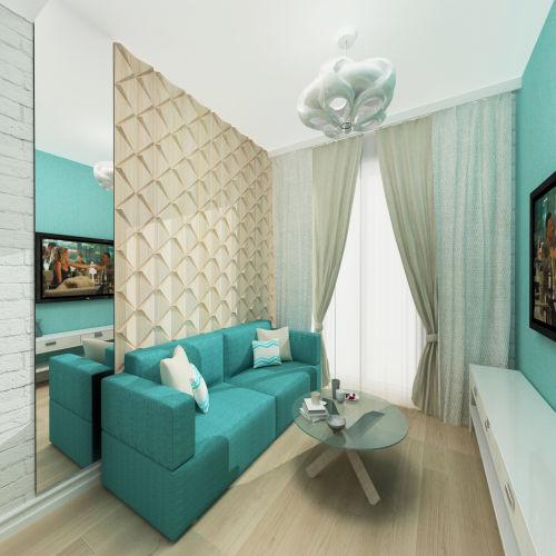 Жилой комплекс «Островский» - Квартира №79, 1-комнатная, 34.2м2