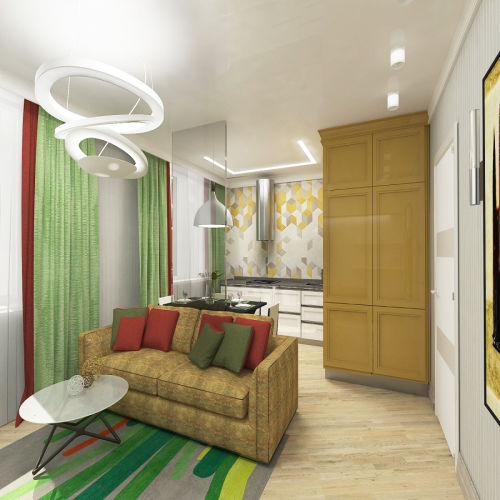 Жилой комплекс «Островский» - Квартира №216, 3-комнатная студия, 68.43м2