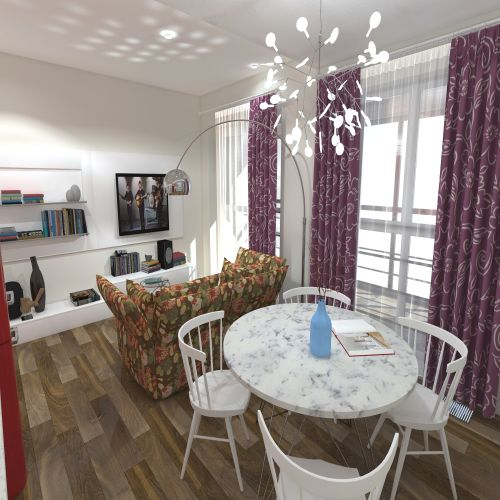 Жилой комплекс «ApartRiver» - Апартаменты №385, Студия, 27.64м2