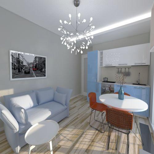 Жилой комплекс «ApartRiver» - Апартаменты №255, 2-комнатная студия, 42.25м2
