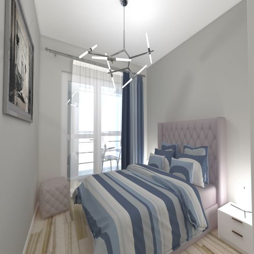 Жилой комплекс «ApartRiver» - Апартаменты №388, 2-комнатная студия, 38.37м2