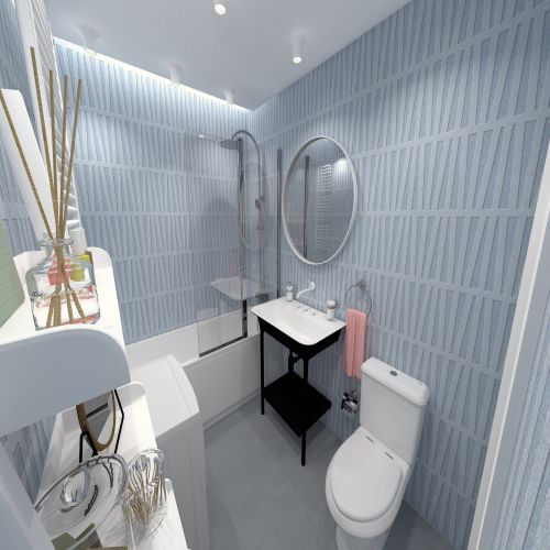 Жилой комплекс «ApartRiver» - Апартаменты №372, 2-комнатная студия, 45.71м2