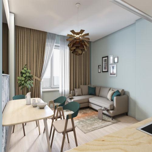 Жилой комплекс «Гранит» - Квартира №1, 3-комнатная студия, 77м2