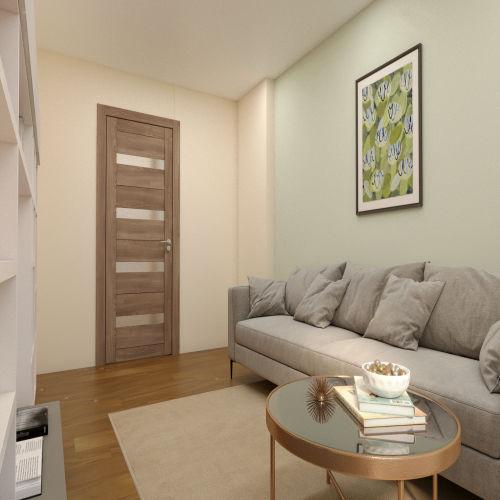 ЖК «Бирюзовая жемчужина» - Квартира №6, 2-комнатная, 53.57м2