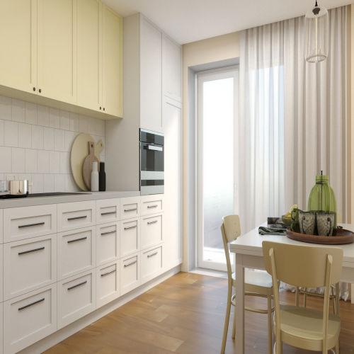 ЖК «Бирюзовая жемчужина» - Квартира №63, 1-комнатная, 39.21м2