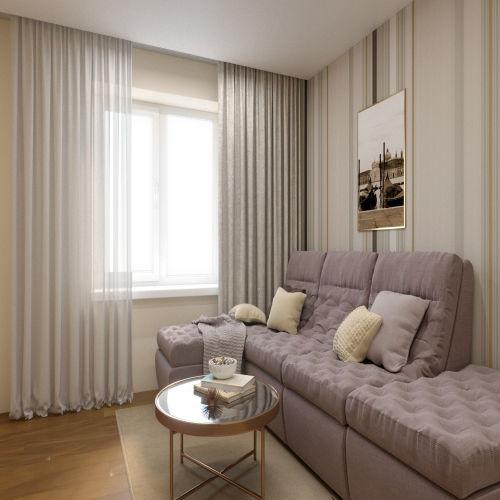 ЖК «Бирюзовая жемчужина» - Квартира №19, 1-комнатная, 39.21м2