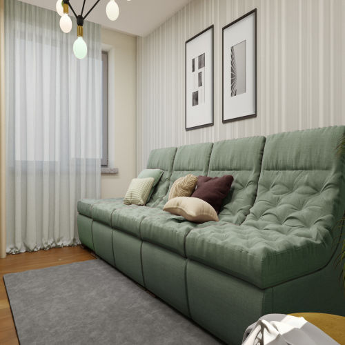 ЖК «Бирюзовая жемчужина» - Квартира №113, 3-комнатная студия, 63.04м2
