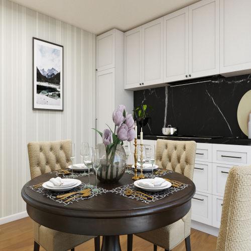 ЖК «Бирюзовая жемчужина» - Квартира №125, 3-комнатная студия, 63.04м2