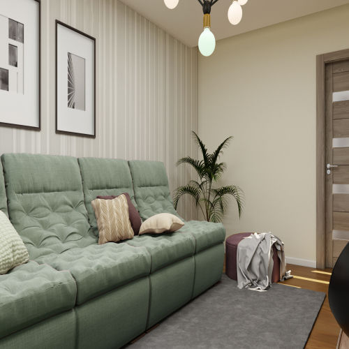 ЖК «Бирюзовая жемчужина» - Квартира №129, 3-комнатная студия, 63.04м2