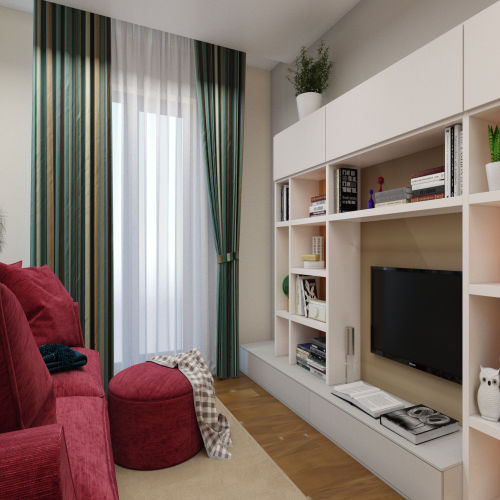 ЖК «Бирюзовая жемчужина» - Квартира №231, 2-комнатная, 54.71м2