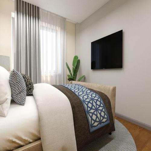 ЖК «Бирюзовая жемчужина» - Квартира №264, 3-комнатная студия, 69.73м2