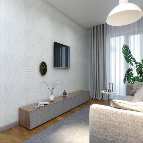ЖК «Бирюзовая жемчужина» - Квартира №220, 3-комнатная студия, 69.73м2