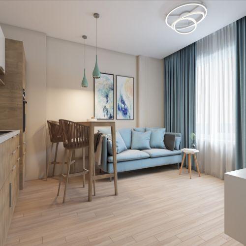 Жилой комплекс «Гранит» - Квартира №13, 3-комнатная студия, 77м2