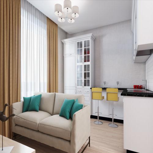 Жилой комплекс «Гранит» - Квартира №64, 1-комнатная, 36.52м2