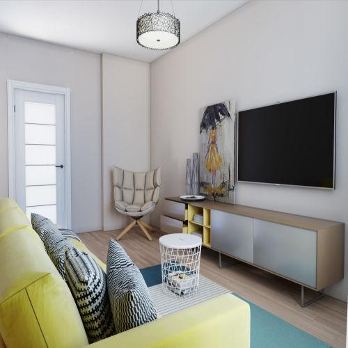 Жилой комплекс «Гранит» - Квартира №81, 2-комнатная, 59.14м2