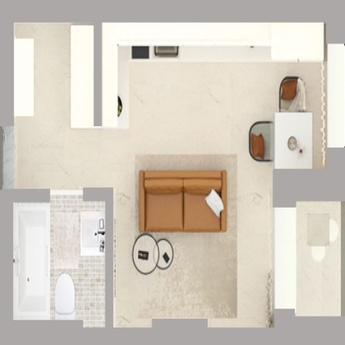 Жилой комплекс «Гранит» - Квартира №224, Студия, 28.28м2