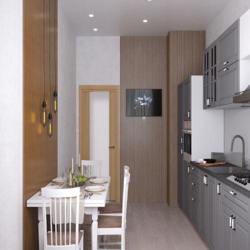 Жилой комплекс «Ломоносов» - Квартира №75, 1-комнатная, 35.65м2