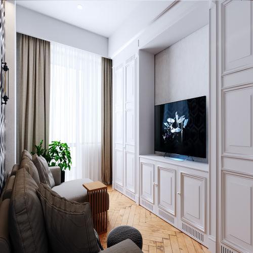 Жилой комплекс «Ломоносов» - Квартира №48, 1-комнатная, 35.71м2