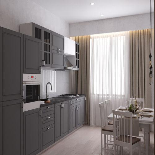 Жилой комплекс «Ломоносов» - Квартира №156, 1-комнатная, 35.65м2