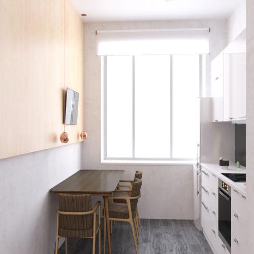 Жилой комплекс «Ломоносов» - Квартира №211, 2-комнатная, 54.59м2