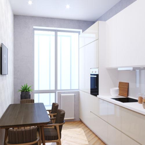 Жилой комплекс «Ломоносов» - Квартира №140, 1-комнатная, 39.55м2