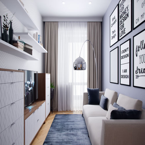 Жилой комплекс «Ломоносов» - Квартира №203, 1-комнатная, 39.4м2