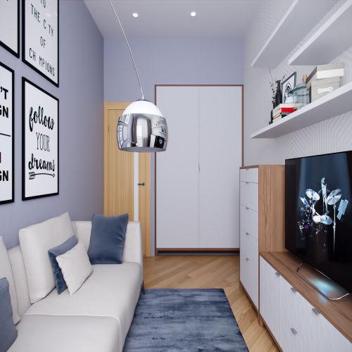 Жилой комплекс «Ломоносов» - Квартира №68, 1-комнатная, 39.76м2