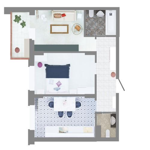 Жилой комплекс «Ломоносов» - Квартира №44, 2-комнатная, 60.93м2
