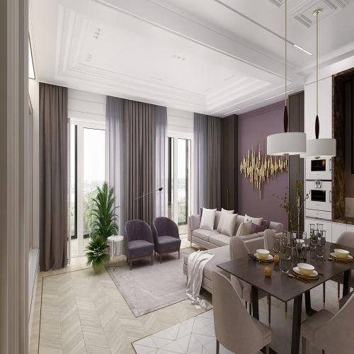 Жилой комплекс «Михайловский» - Квартира №35, 4-комнатная студия, 124.84м2