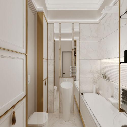 Жилой комплекс «Михайловский» - Квартира №38, 4-комнатная студия, 124.84м2