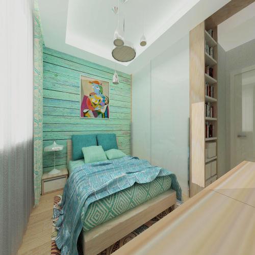 Жилой комплекс «Островский» - Квартира №264, 2-комнатная студия, 42.4м2
