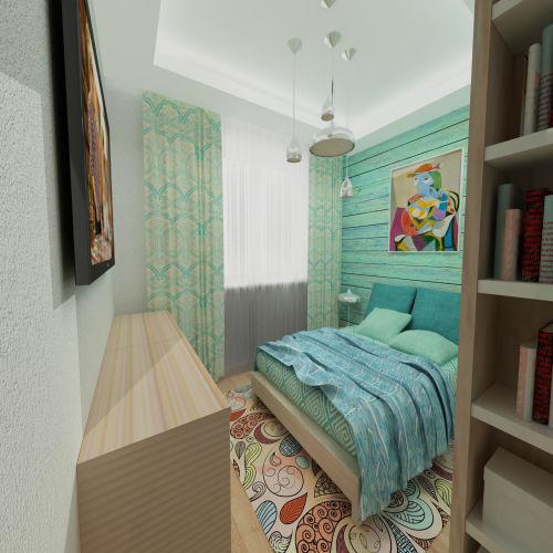Жилой комплекс «Островский» - Квартира №246, 2-комнатная студия, 42.4м2
