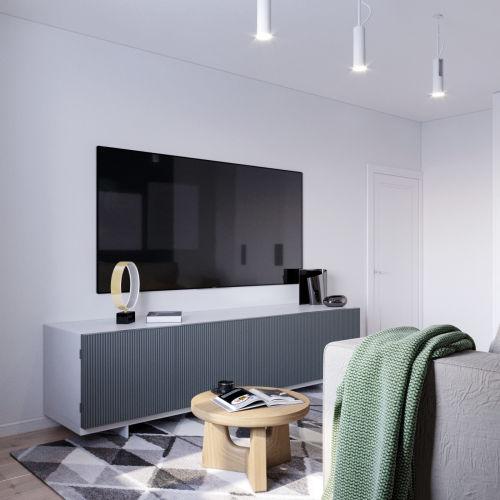 ЖК «Чкалов» - Квартира №1, 1-комнатная, 43.59м2