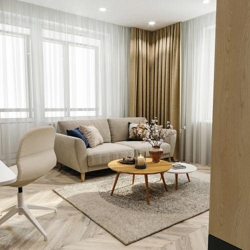 ЖК «Чкалов» - Квартира №6, 1-комнатная, 39.36м2